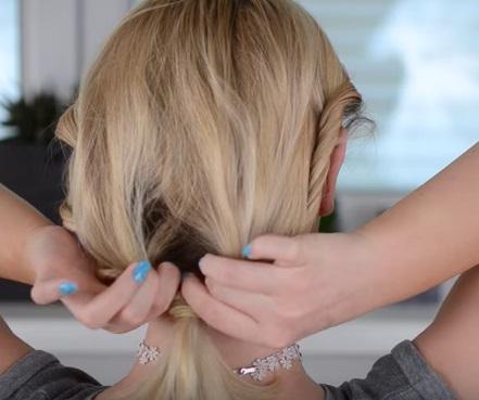 Коктейльная причёска на короткие волосы - Шаг 3