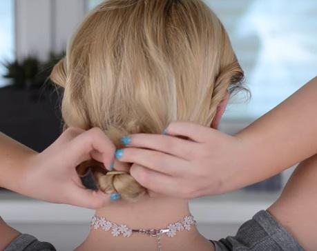 Коктейльная причёска на короткие волосы - Шаг 4