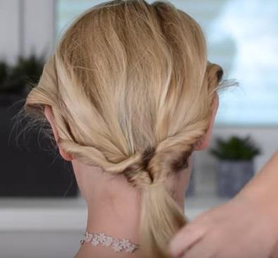 Коктейльная причёска на короткие волосы - Шаг 5