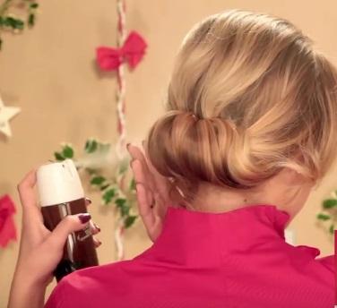 Коктейльная причёска на средние волосы - Шаг 5