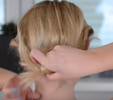 Коктейльная причёска на короткие волосы - Шаг 6