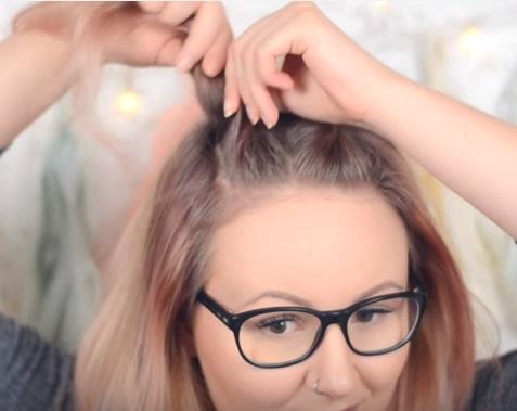 """""""Ребристая"""" причёска на средние волосы - Шаг 2"""
