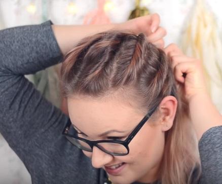 """""""Ребристая"""" причёска на средние волосы - Шаг 5"""