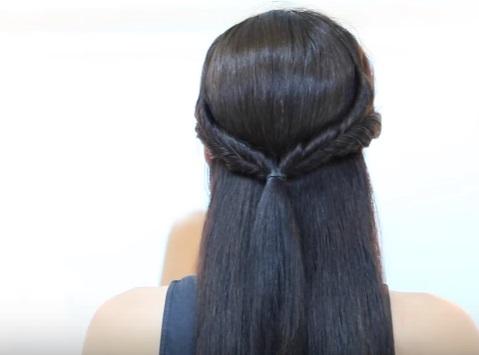 Низкий хвост со жгутиками на средние волосы - Шаг 3
