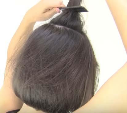 Ассиметричная причёска на короткие волосы - Шаг 1
