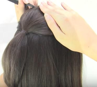 Ассиметричная причёска на короткие волосы - Шаг 2