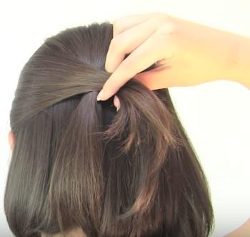 Ассиметричная причёска на короткие волосы - Шаг 3