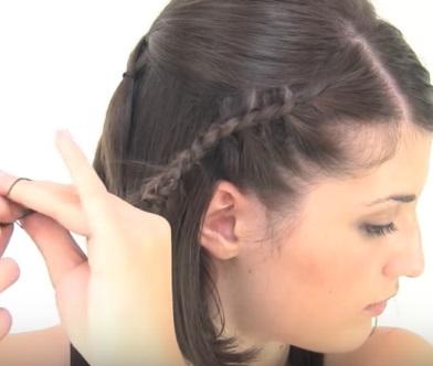 Ассиметричная причёска на короткие волосы - Шаг 5