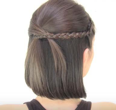 Ассиметричная причёска на короткие волосы