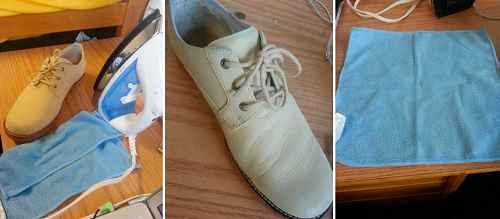 Как убрать заломы на кожаной обуви 1