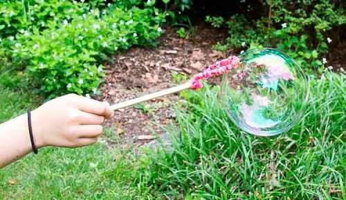 Как сделать в домашних условиях мыльные пузыри 5