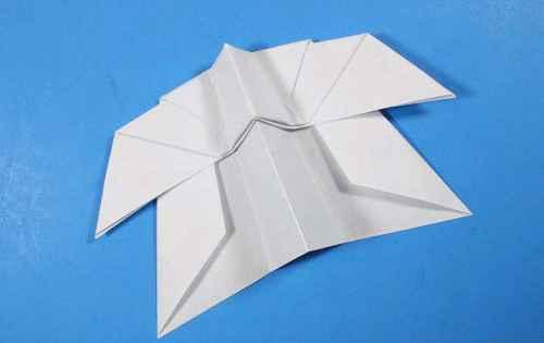 Как сделать из бумаги самолётик Летающий Ниндзя