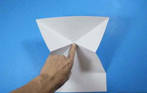 Как сделать из бумаги самолётик Летающий Ниндзя - Шаг 10.2