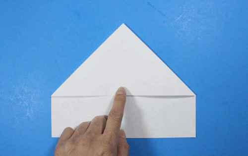 Как сделать из бумаги самолётик Летающий Ниндзя - Шаг 11.2