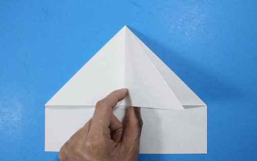 Как сделать из бумаги самолётик Летающий Ниндзя - Шаг 12.1
