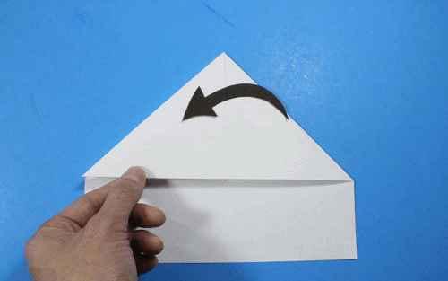 Как сделать из бумаги самолётик Летающий Ниндзя - Шаг 12.2