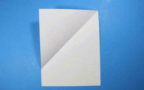 Как сделать из бумаги самолётик Летающий Ниндзя - Шаг 2.1