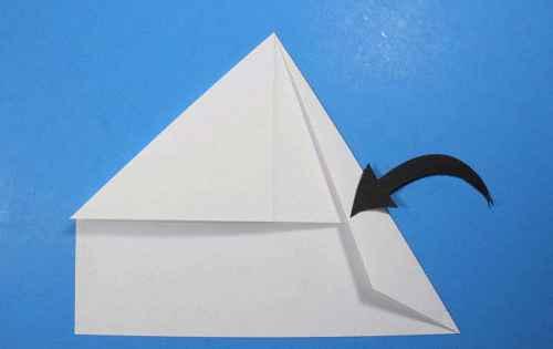 Как сделать из бумаги самолётик Летающий Ниндзя - Шаг 13.2
