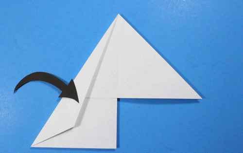 Как сделать из бумаги самолётик Летающий Ниндзя - Шаг 16.2