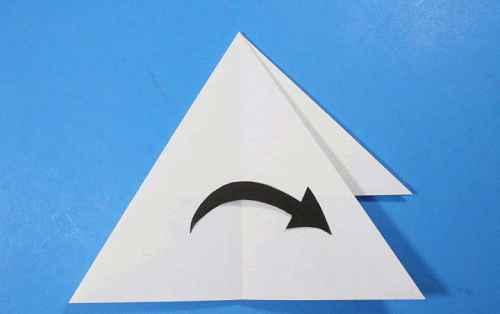 Как сделать из бумаги самолётик Летающий Ниндзя - Шаг 17.2