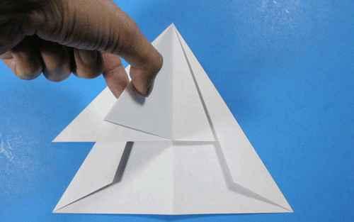 Как сделать из бумаги самолётик Летающий Ниндзя - Шаг 19