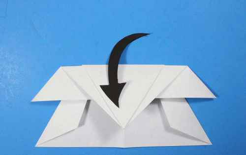 Как сделать из бумаги самолётик Летающий Ниндзя - Шаг 20.2