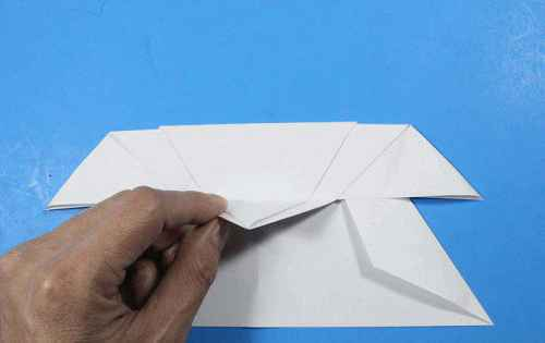 Как сделать из бумаги самолётик Летающий Ниндзя - Шаг 21.1
