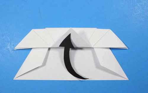 Как сделать из бумаги самолётик Летающий Ниндзя - Шаг 21.2