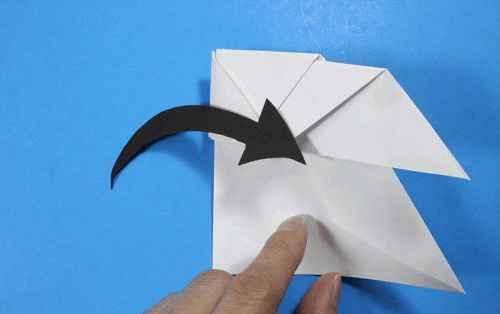 Как сделать из бумаги самолётик Летающий Ниндзя - Шаг 23.2