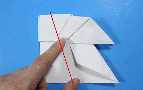 Как сделать из бумаги самолётик Летающий Ниндзя - Шаг 24.1