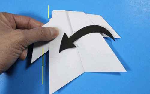 Как сделать из бумаги самолётик Летающий Ниндзя - Шаг 24.3