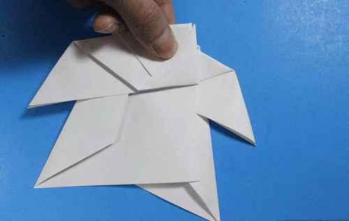 Как сделать из бумаги самолётик Летающий Ниндзя - Шаг 25