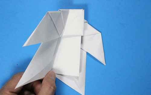 Как сделать из бумаги самолётик Летающий Ниндзя - Шаг 26.1