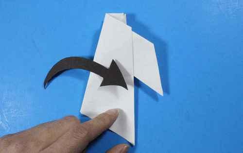 Как сделать из бумаги самолётик Летающий Ниндзя - Шаг 26.2