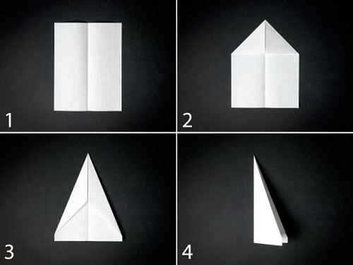 Как сделать из бумаги самолётик Дарт - Шаг 1