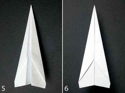 Как сделать из бумаги самолётик Дарт - Шаг 2