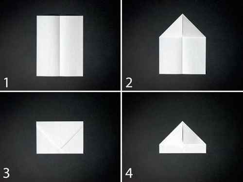 Как сделать из бумаги самолётик Стилс - Шаг 1