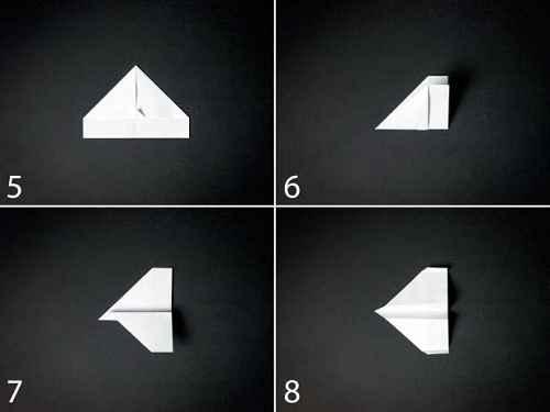 Как сделать из бумаги самолётик Стилс - Шаг 2