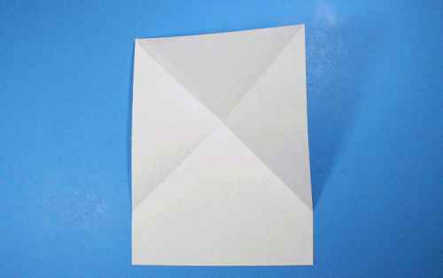Как сделать из бумаги самолётик Летающий Ниндзя - Шаг 4.1