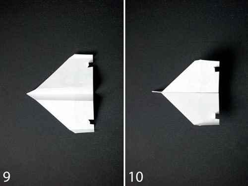Как сделать из бумаги самолётик Стилс - Шаг 3