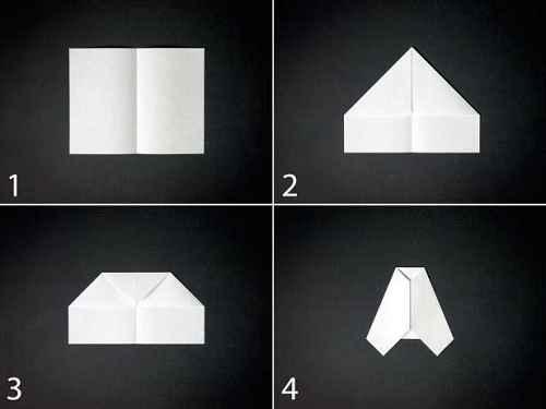 Как сделать из бумаги самолётик Шмель - Шаг 1