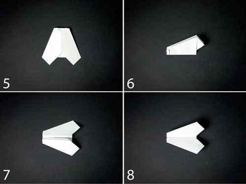 Как сделать из бумаги самолётик Шмель - Шаг 2