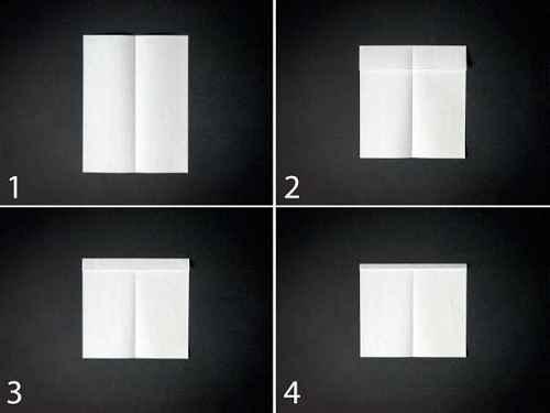 Как сделать из бумаги самолётик Хантер - Шаг 1