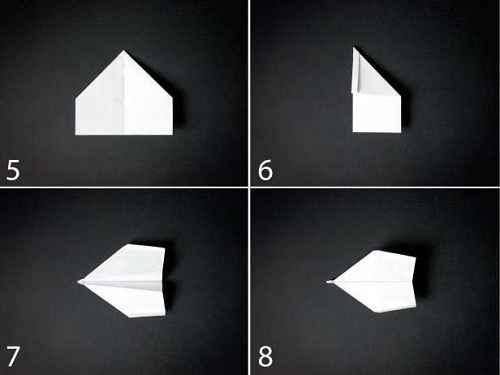 Как сделать из бумаги самолётик Хантер - Шаг 2