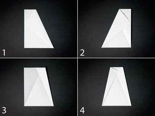 Как сделать из бумаги самолётик Бычий нос - Шаг 1