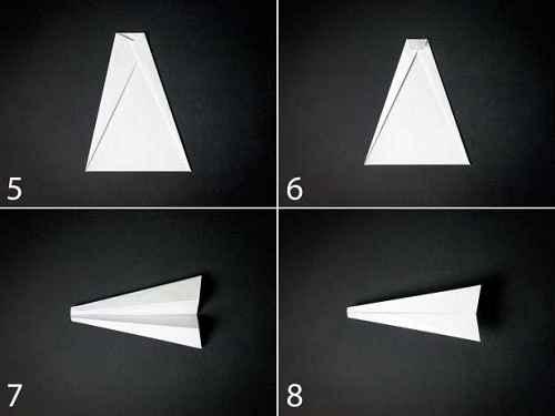 Как сделать из бумаги самолётик Бычий нос - Шаг 2