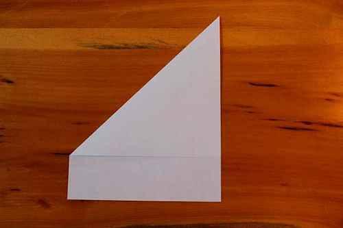 Как сделать из бумаги самолётик Хаммер - Шаг 1