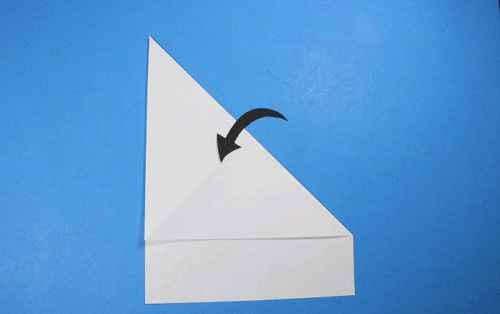 Как сделать из бумаги самолётик Летающий Ниндзя - Шаг 4.2
