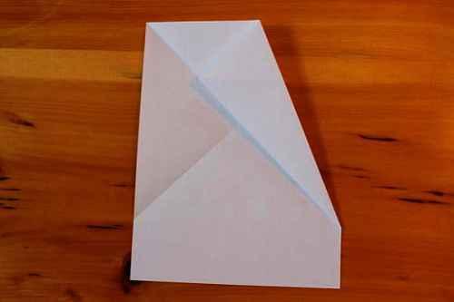 Как сделать из бумаги самолётик Хаммер - Шаг 3