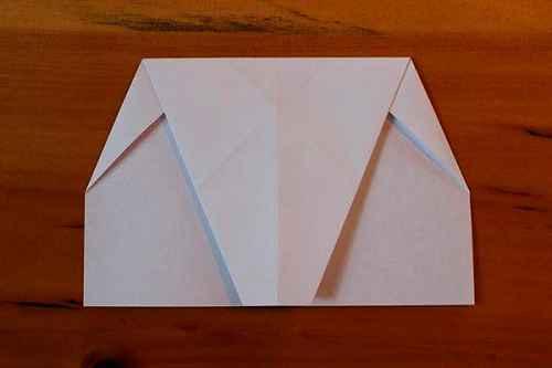 Как сделать из бумаги самолётик Хаммер - Шаг 6